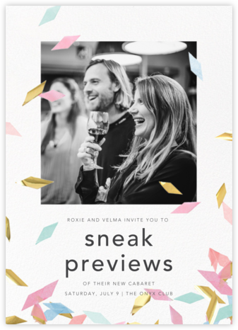 Flutter Photo - Neutral - CONFETTISYSTEM - Launch Party Invitations
