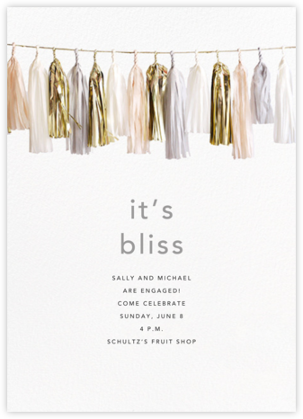 Glimmer (Tall) - Neutral - CONFETTISYSTEM - Engagement party invitations