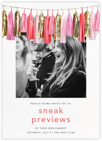 Glimmer Photo - Pink - CONFETTISYSTEM - Launch Party Invitations