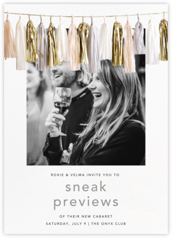 Glimmer Photo - Neutral - CONFETTISYSTEM - Launch Party Invitations