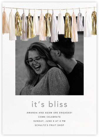 Glimmer Photo - Neutral - CONFETTISYSTEM - Engagement party invitations