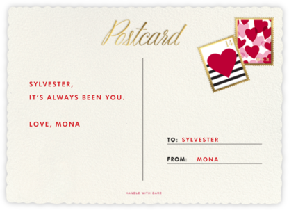Mr. and Mrs. Postman - kate spade new york - Valentine's Day Cards