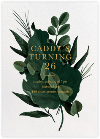 Herrgarde - Paperless Post - Adult Birthday Invitations