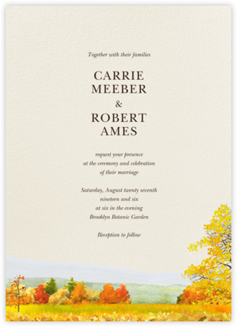 Buckhannon (Invitation) - Felix Doolittle - Destination Wedding Invitations