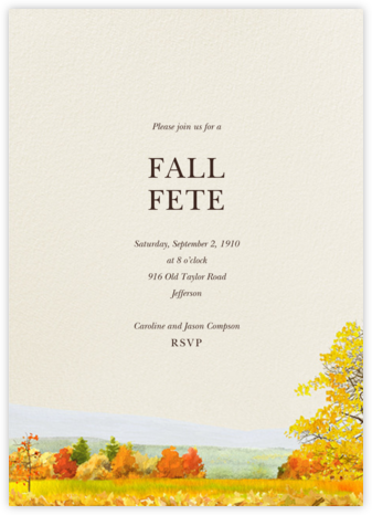 Buckhannon - Felix Doolittle - Autumn entertaining invitations