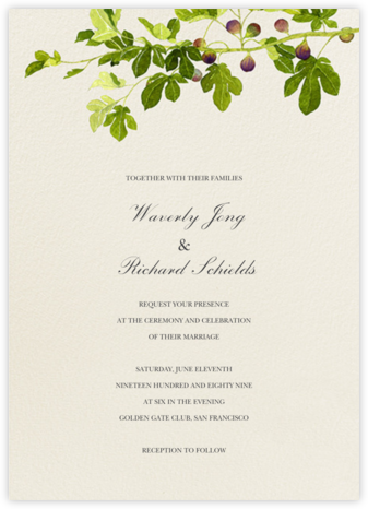 Fig Branches (Invitation) - Felix Doolittle - Wedding Invitations
