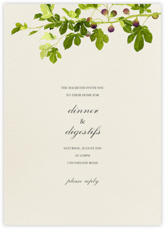 Fig Branches - Felix Doolittle - Dinner party invitations