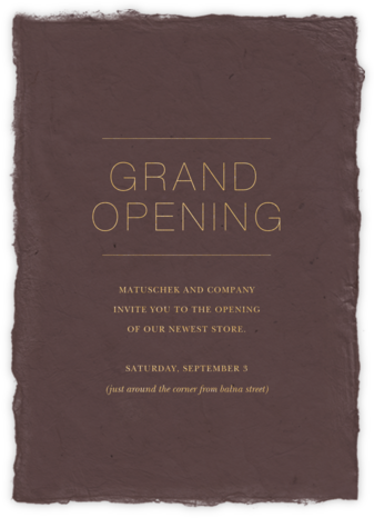 Marmorino - Rose - Paperless Post - Launch Party Invitations