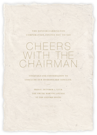 Marmorino - Cream - Paperless Post - Business event invitations