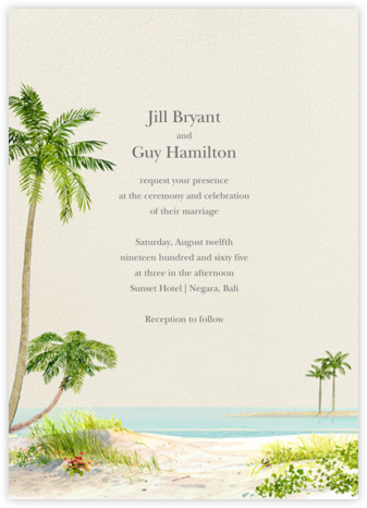 Key West (Invitation) - Felix Doolittle - Destination wedding invitations
