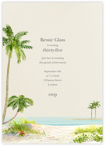 Key West - Felix Doolittle - Adult Birthday Invitations