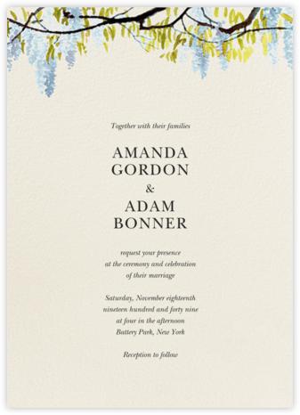 Wisteria Canopy (Invitation) - Tundra - Felix Doolittle - Wedding Invitations