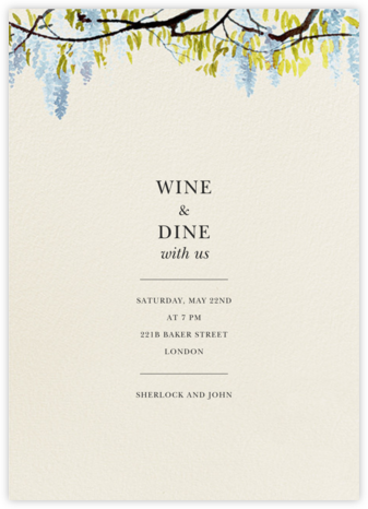 Wisteria Canopy - Tundra - Felix Doolittle - Summer entertaining invitations