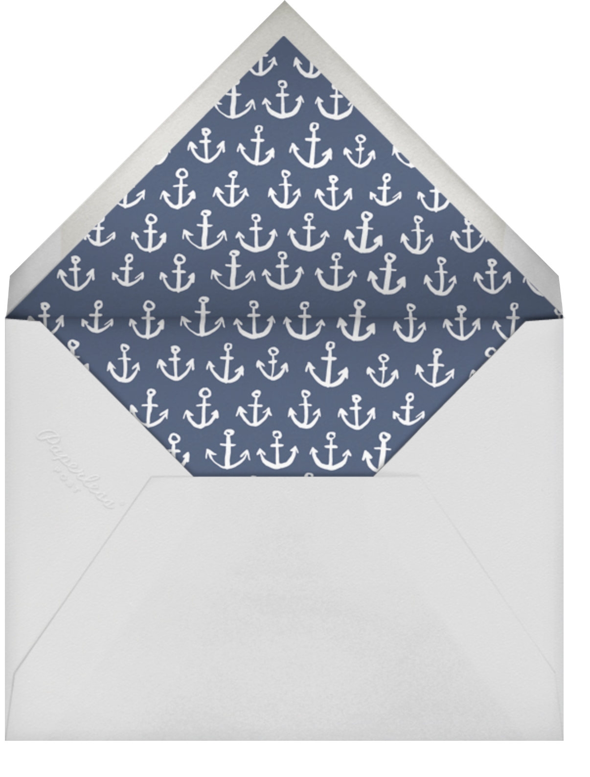 Maritime Photo - Blue - Linda and Harriett - Baby boy announcements - envelope back