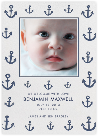 Maritime Photo - Blue - Linda and Harriett - Birth Announcements