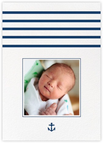 La Rochelle - Dark Blue - Paperless Post - Birth Announcements