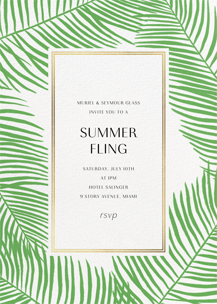 Palmier Nouveau - Paperless Post - Summer entertaining invitations