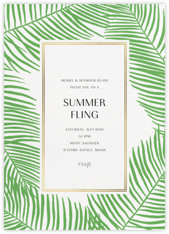 Palmier Nouveau - Paperless Post - Summer Party Invitations