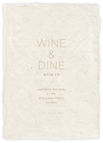Marmorino - Cream - Paperless Post - Summer entertaining invitations