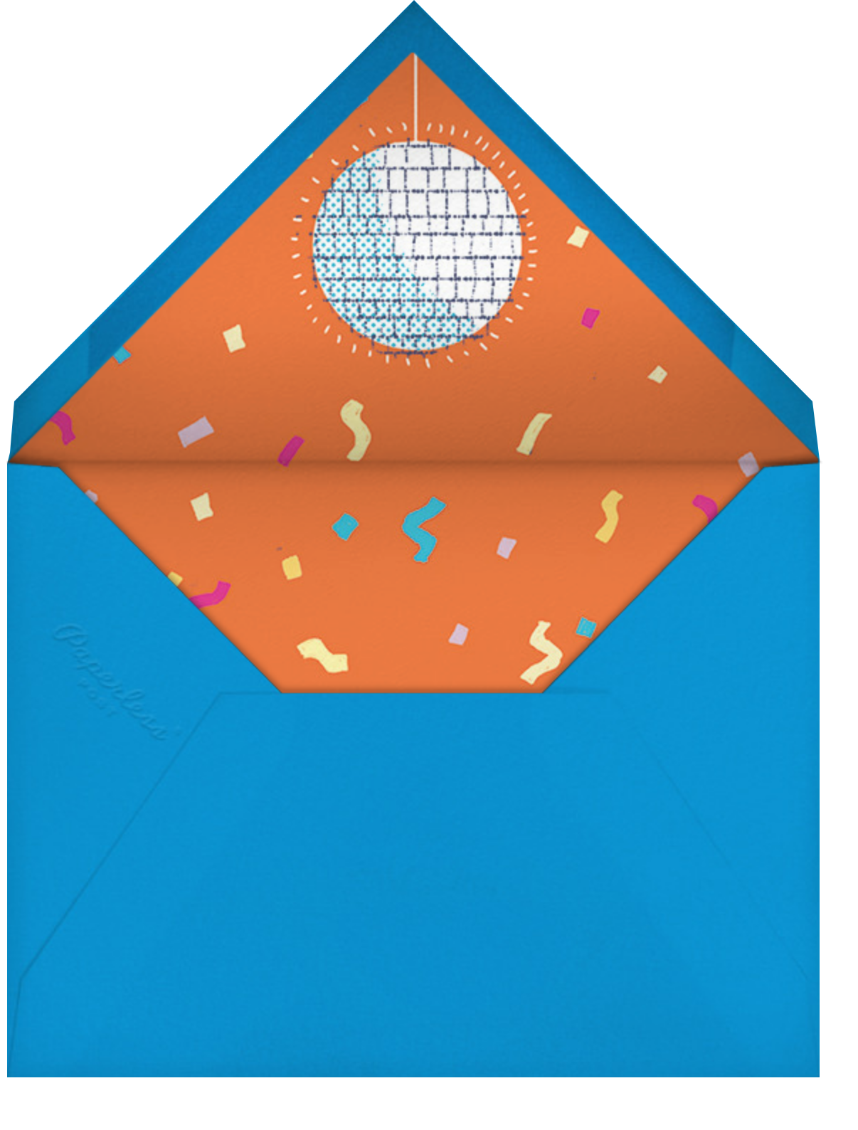 Feathered or Not - Paperless Post - Adult birthday - envelope back