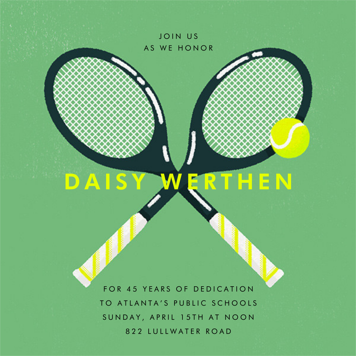 Mixed Doubles - Paperless Post - Retirement invitations, farewell invitations