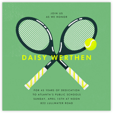 Mixed Doubles - Paperless Post - Retirement Invitations