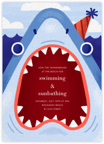 Bigmouth Strikes Again - Paperless Post - Summer entertaining invitations