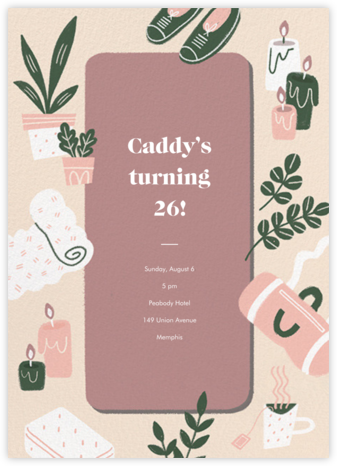 Stretch Goals - Tea Rose - Paperless Post - Adult Birthday Invitations