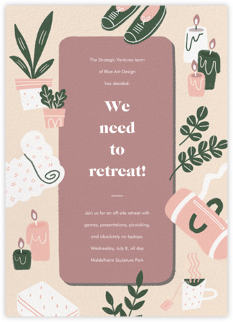 Stretch Goals - Tea Rose - Paperless Post - Casual Party Invitations