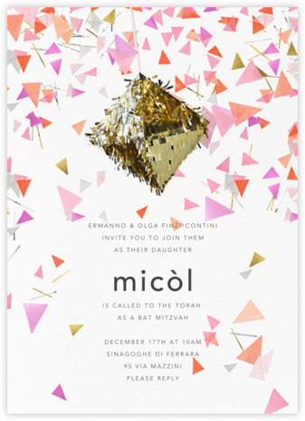 Swing - CONFETTISYSTEM - Bat and Bar Mitzvah Invitations