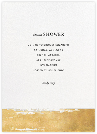 Simple Brushstroke - Sugar Paper - Bridal shower invitations