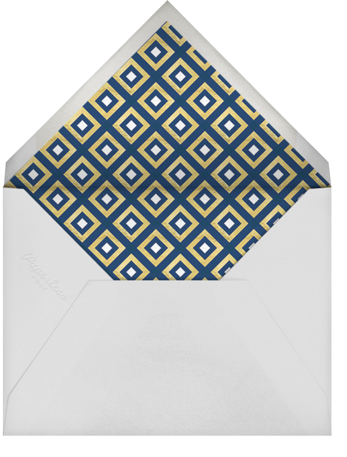 Bobo - Gold and Navy Blue - Jonathan Adler - Bat and bar mitzvah - envelope back