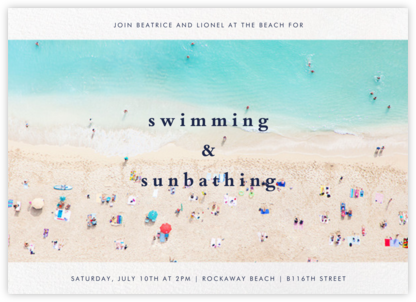 Beach - Gray Malin - Pool Party Invitations