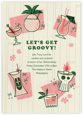 Tiki Trader - Paperless Post - Adult Birthday Invitations