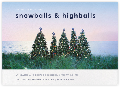 Christmas Trees - Gray Malin - Holiday invitations
