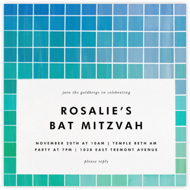 Chromatic - Blue - Kelly Wearstler - Bat and Bar Mitzvah Invitations