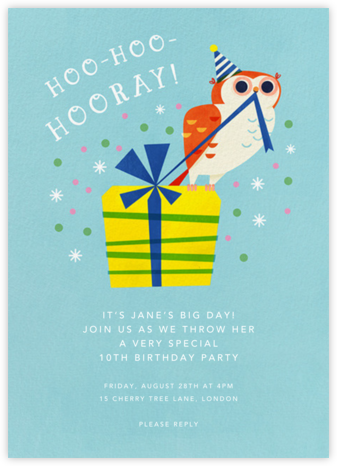 Owl Night Long - Paperless Post - Online Kids' Birthday Invitations