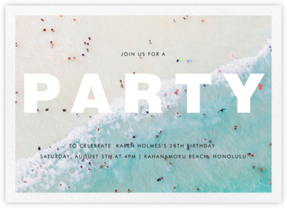 Ocean Wave - Gray Malin - Adult Birthday Invitations