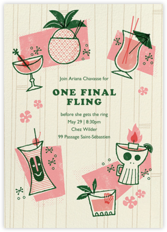 Tiki Trader - Paperless Post - Bachelorette Party Invitations