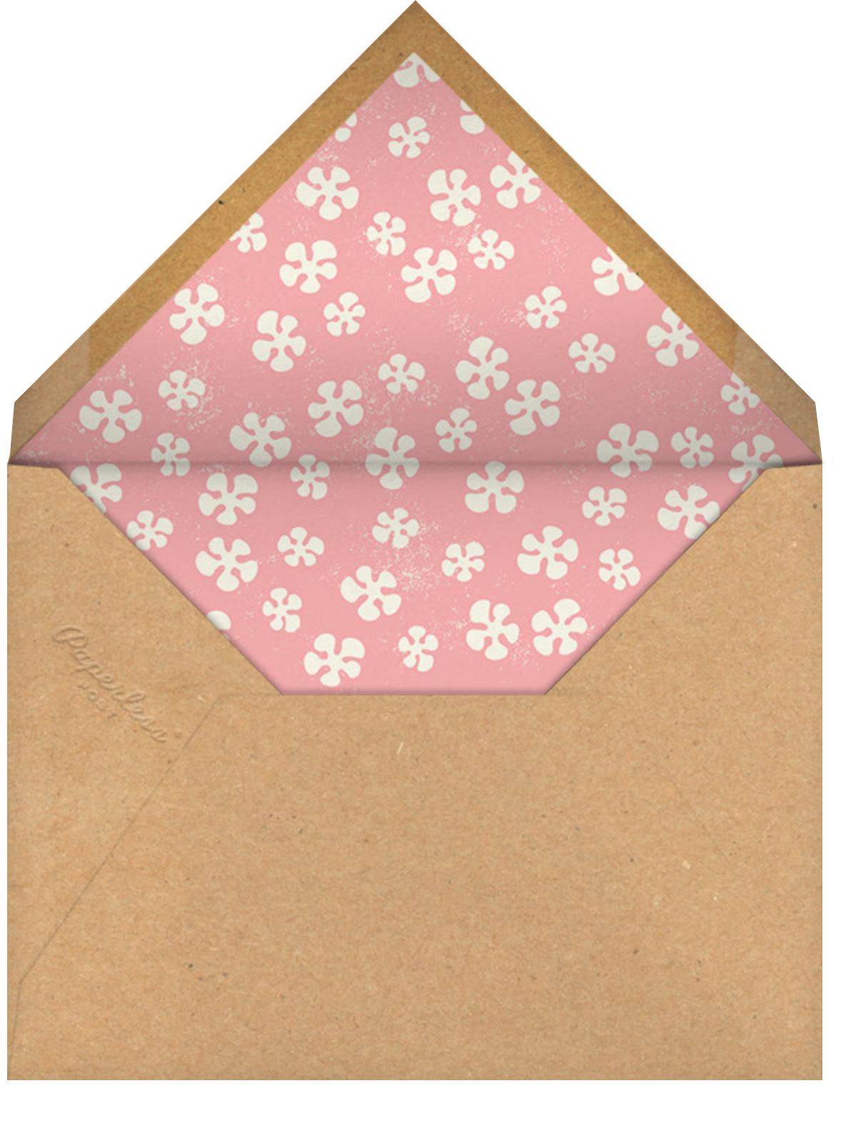 Tiki Trader - Paperless Post - Luau party - envelope back