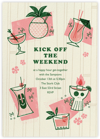 Tiki Trader - Paperless Post - Happy Hour Invitations