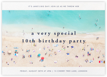 Beach - Gray Malin - Birthday invitations