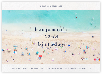 Beach - Gray Malin - Adult Birthday Invitations