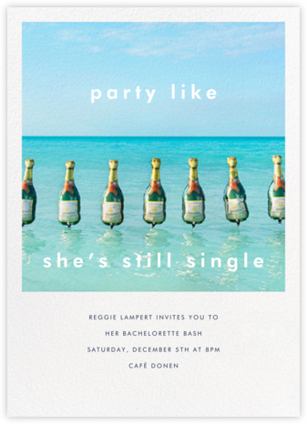 Champagne Float - Gray Malin - Bachelorette party invitations