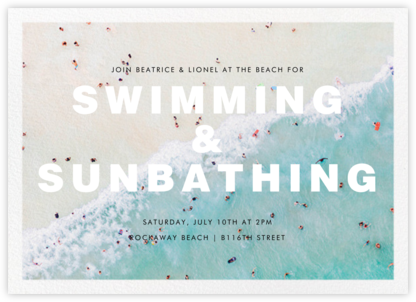 Ocean Wave - Gray Malin - Summer Party Invitations