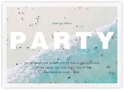 Ocean Wave - Gray Malin - Bachelorette Party Invitations