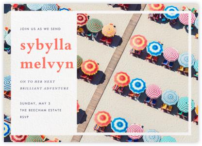 Rainbow Umbrellas - Gray Malin - Farewell party invitations