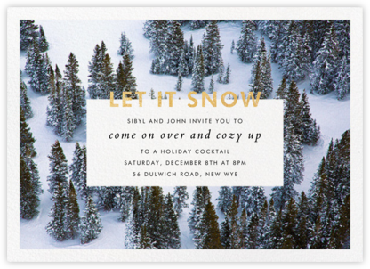 Winter Trees - Gray Malin - Professional party invitations and cards
