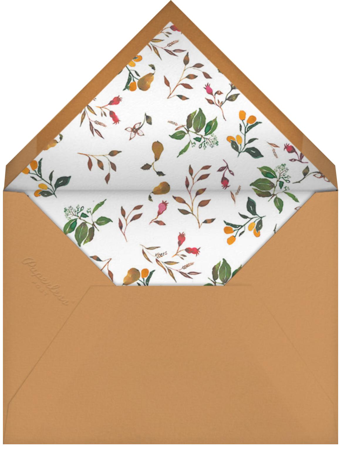 Harvest Market (Invitation) - Happy Menocal - Baby shower - envelope back
