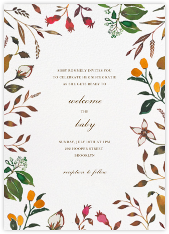 Harvest Market (Invitation) - Happy Menocal - Baby Shower Invitations